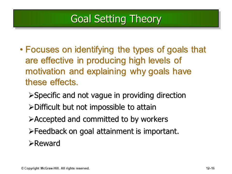 Goal setting theory essay