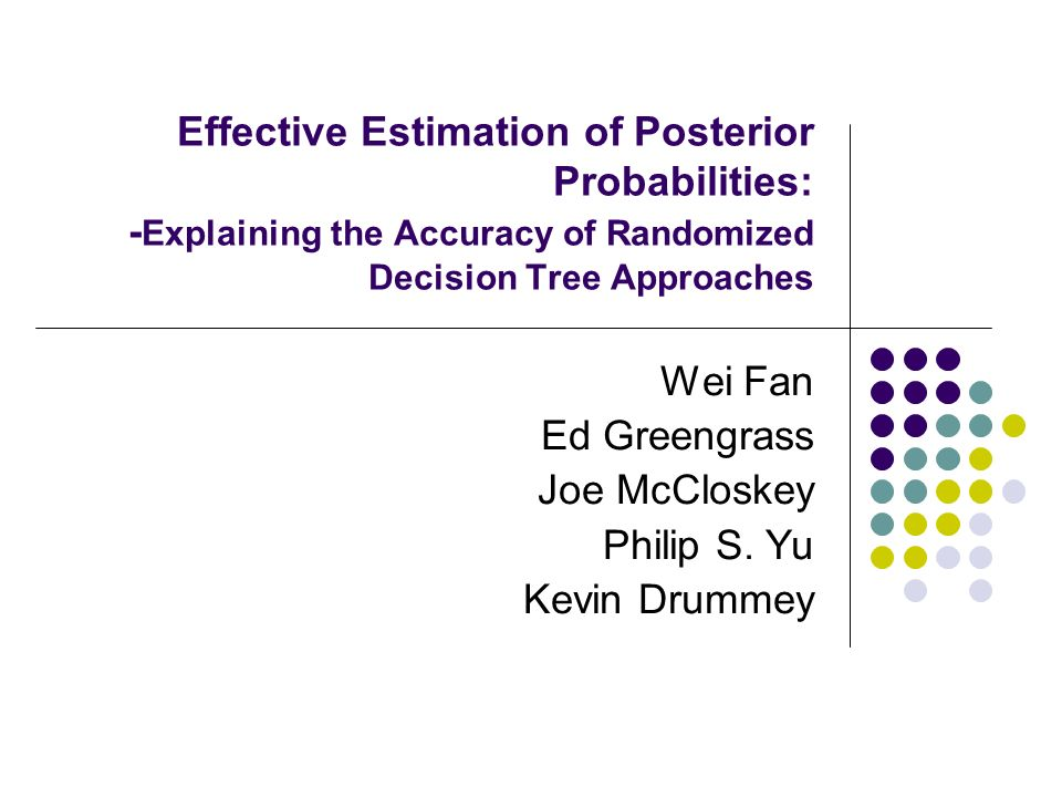decision making and posterior probabilities