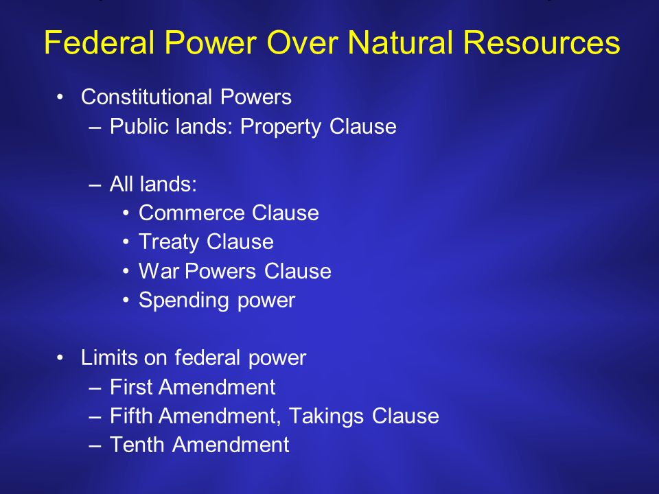 Is It Unconstitutional To Damage Natural Resources