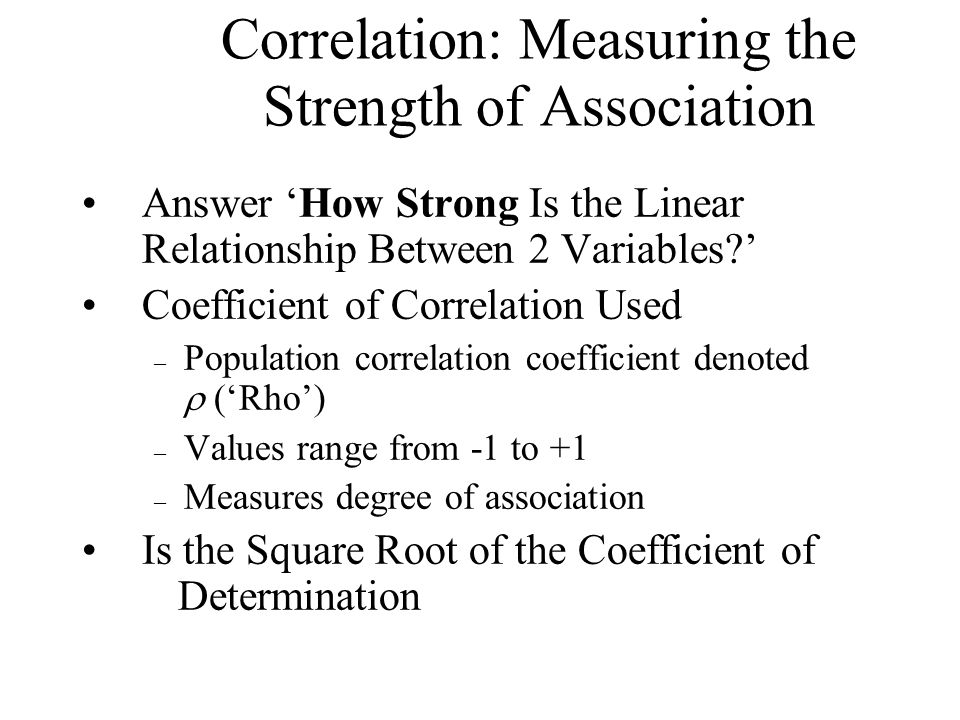 Correlation: Measuring the Strength of Association