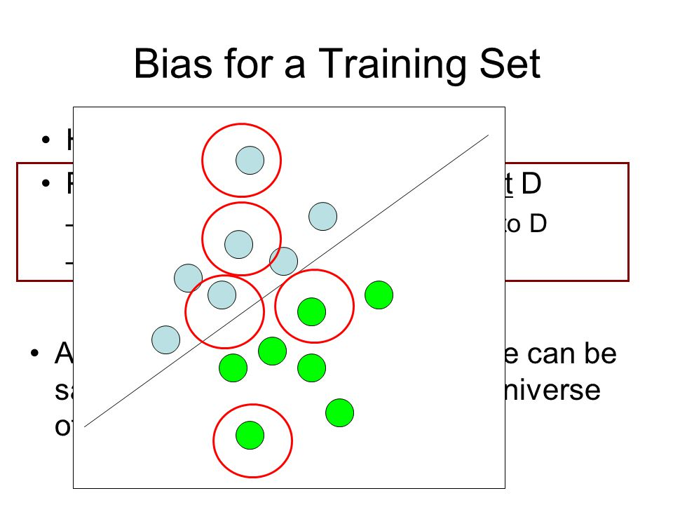 Bias for a Training Set How P(s=1|x,y) is computed
