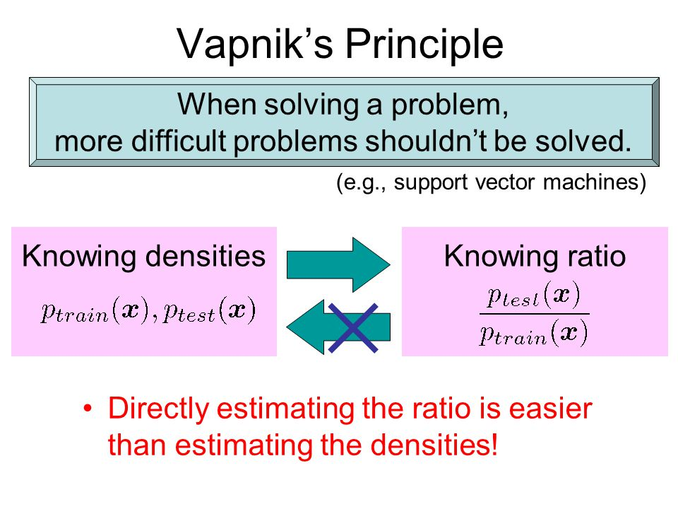 Vapnik's Principle When solving a problem,