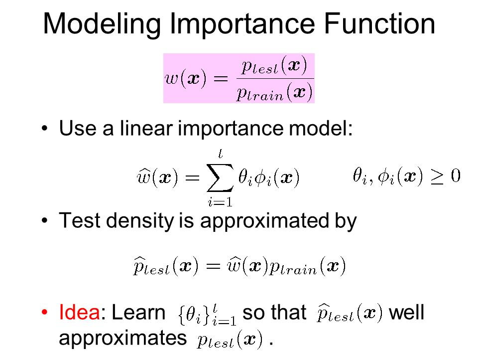 Modeling Importance Function