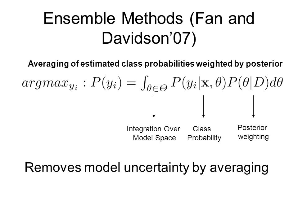 Ensemble Methods (Fan and Davidson'07)