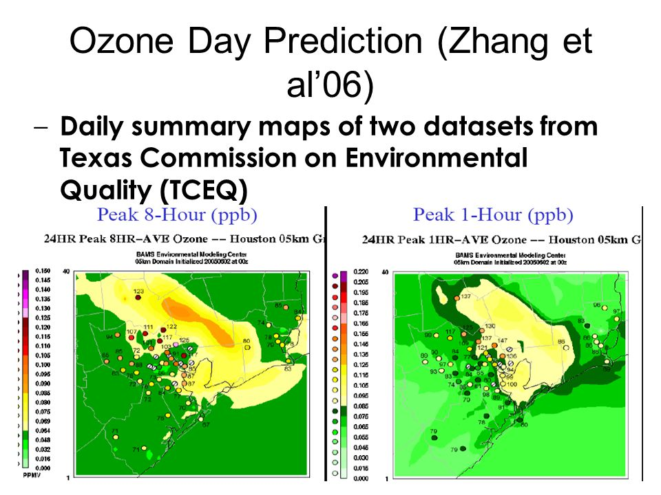 Ozone Day Prediction (Zhang et al'06)