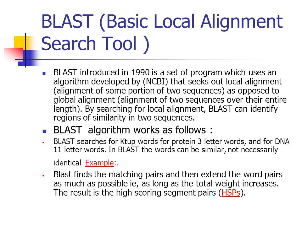 Basic Local Alignment Search Tool - George Mason University