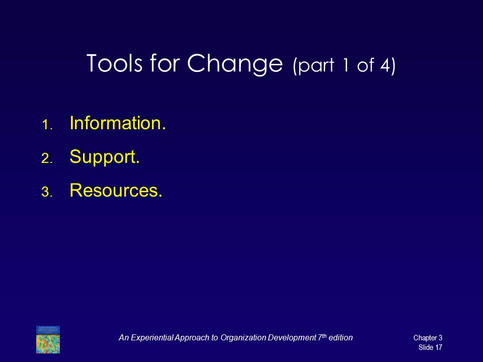 Tools for Change (part 1 of 4)