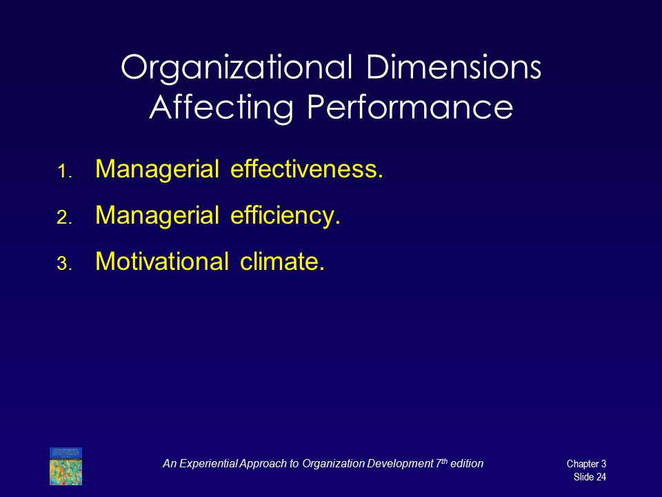 Organizational Dimensions Affecting Performance
