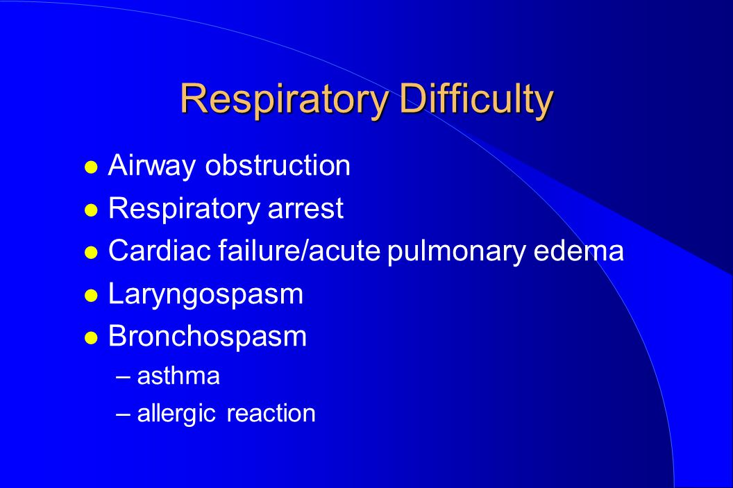 Respiratory Difficulty