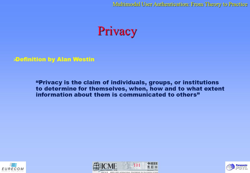 Privacy Definition by Alan Westin