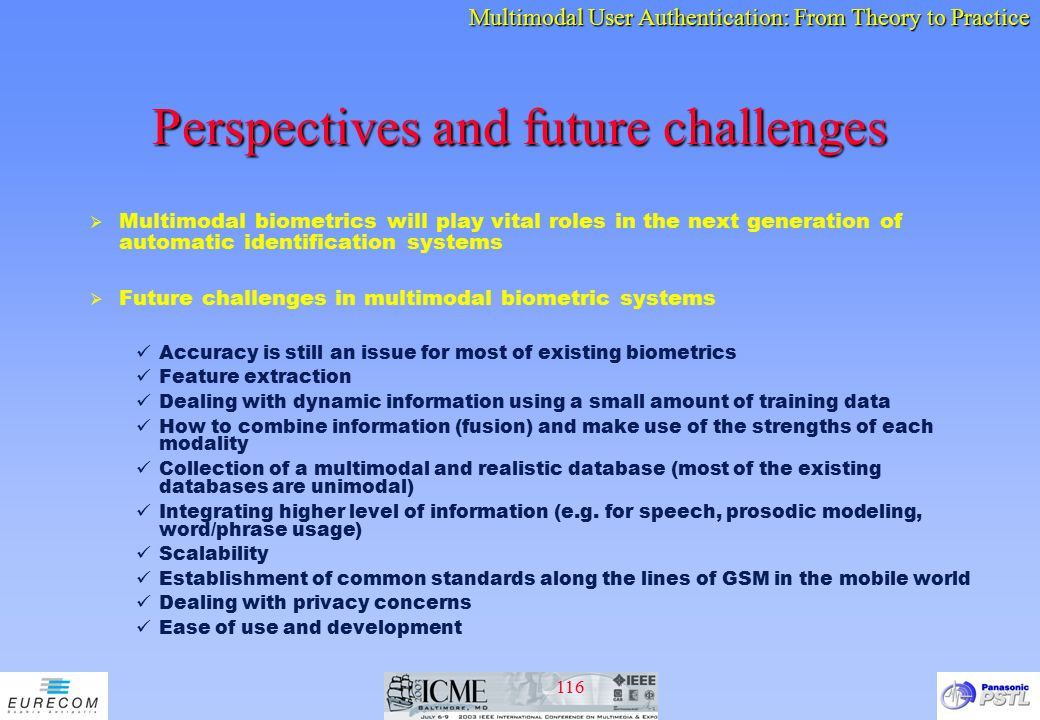Perspectives and future challenges