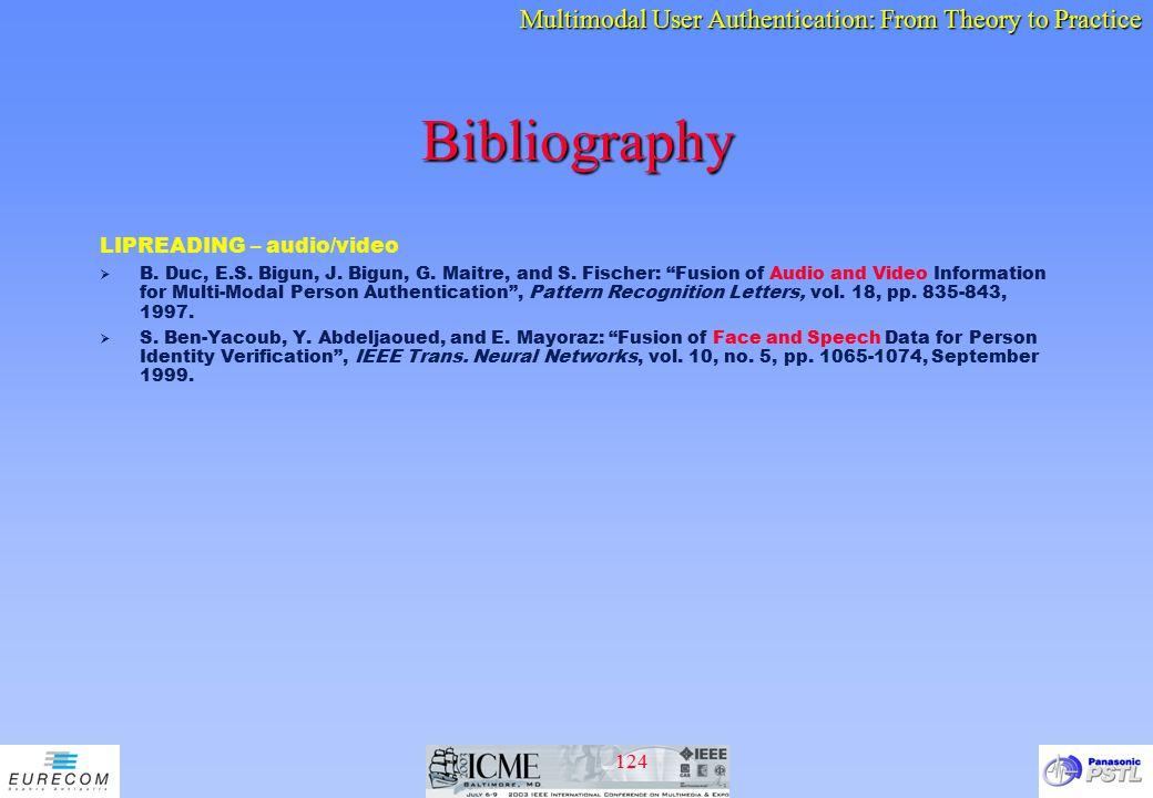 Bibliography LIPREADING – audio/video