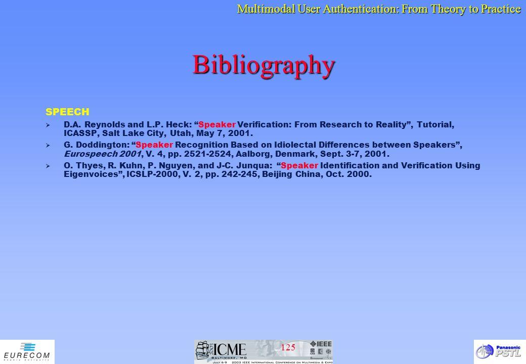 Bibliography SPEECH.