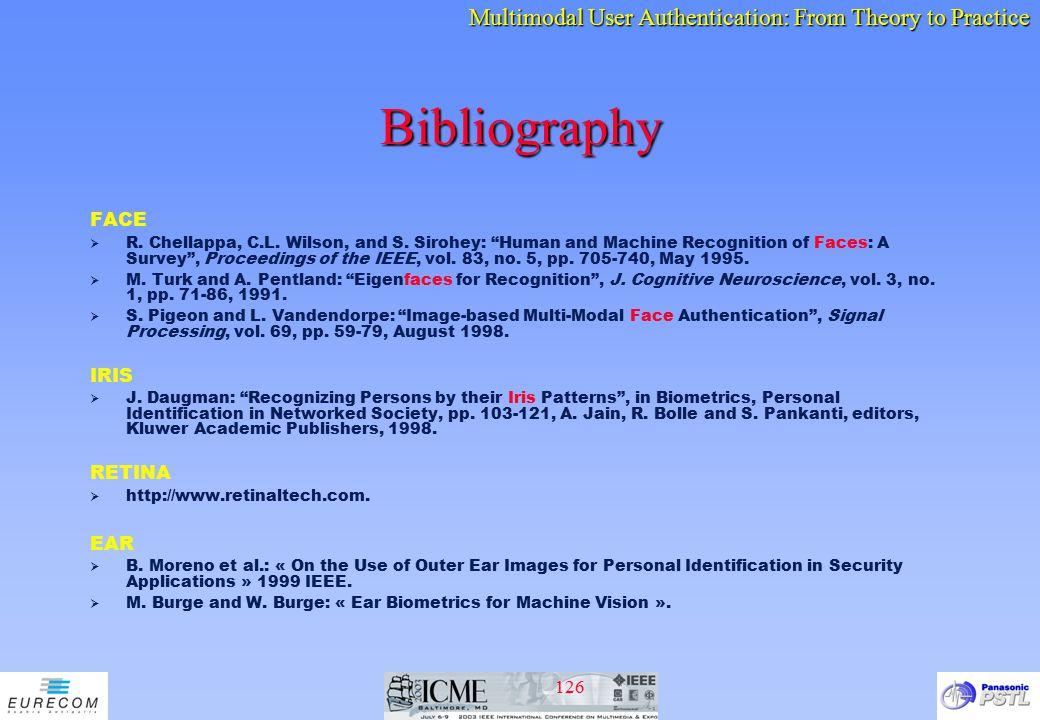 Bibliography FACE IRIS RETINA EAR
