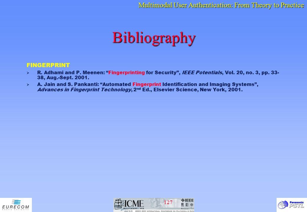 Bibliography FINGERPRINT