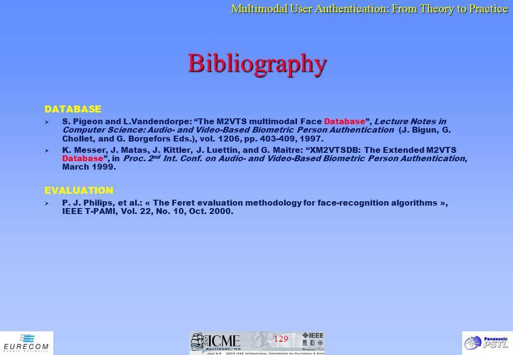 Bibliography DATABASE EVALUATION