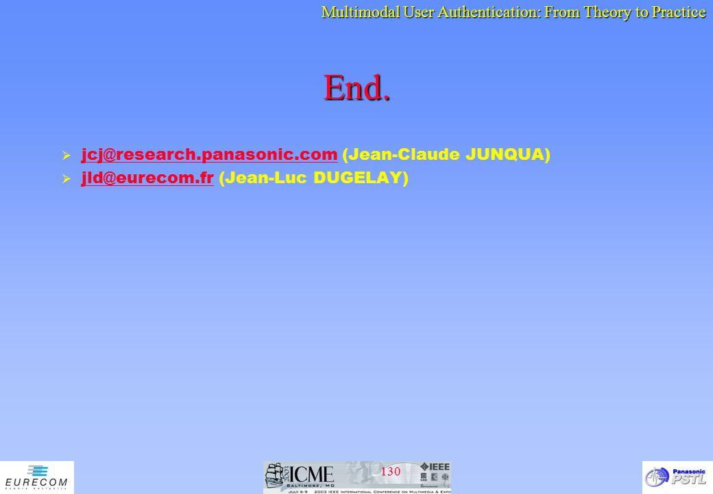 End. jcj@research.panasonic.com (Jean-Claude JUNQUA)
