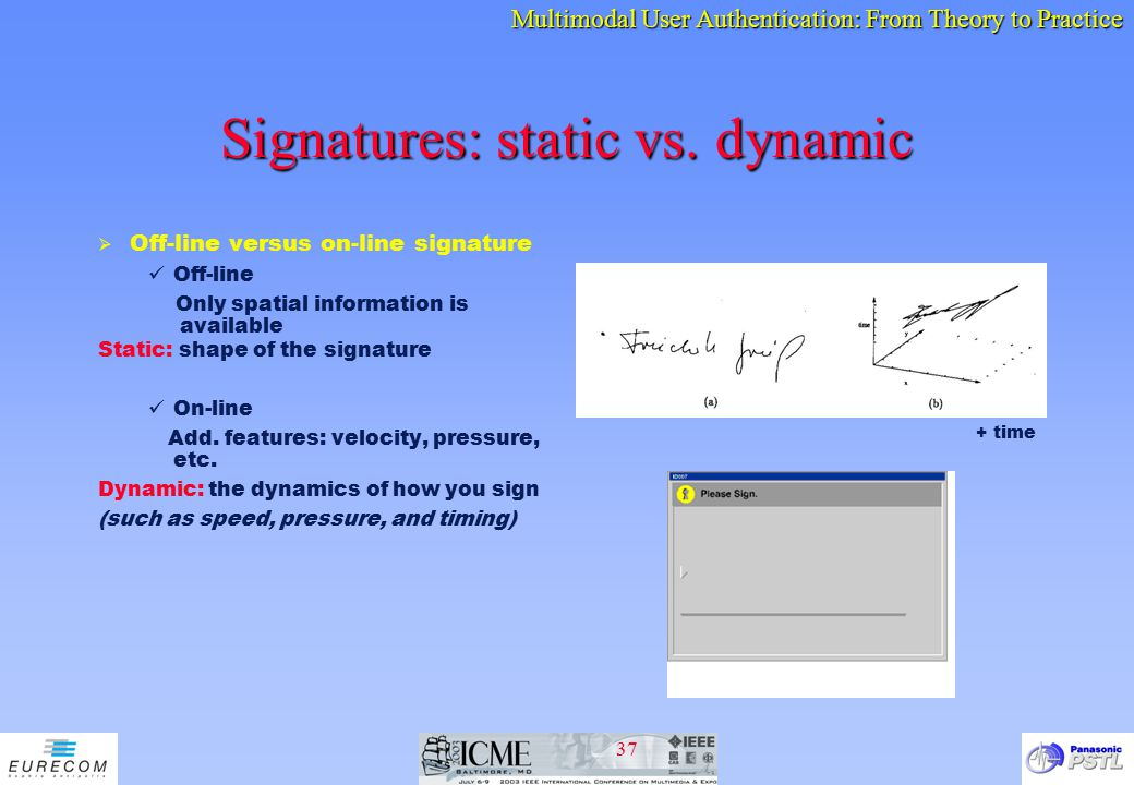 Signatures: static vs. dynamic