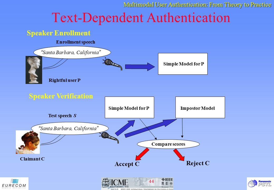 Text-Dependent Authentication