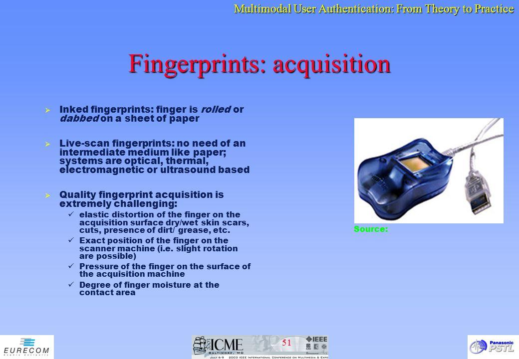Fingerprints: acquisition
