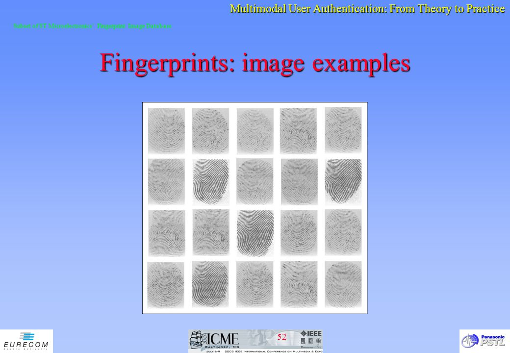 Fingerprints: image examples
