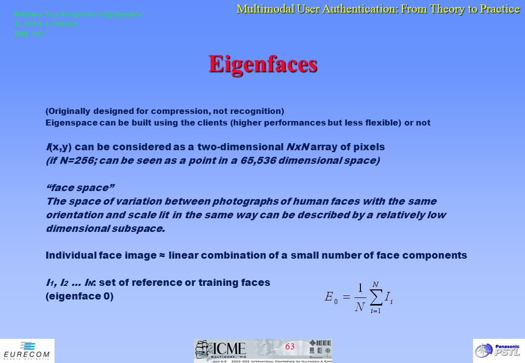 Reference: Face Recognition Using Eigenfaces