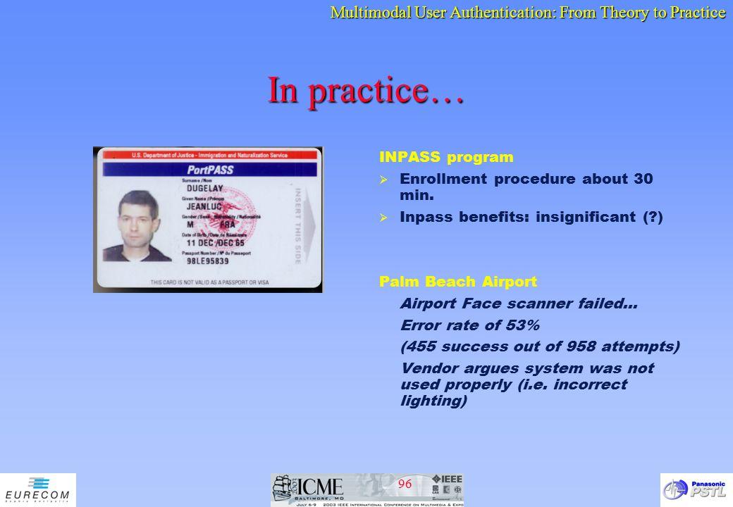 In practice… INPASS program Enrollment procedure about 30 min.