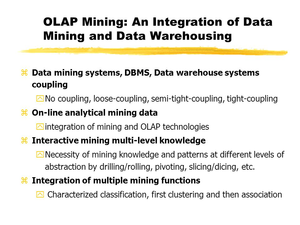 olap and data mining relationship