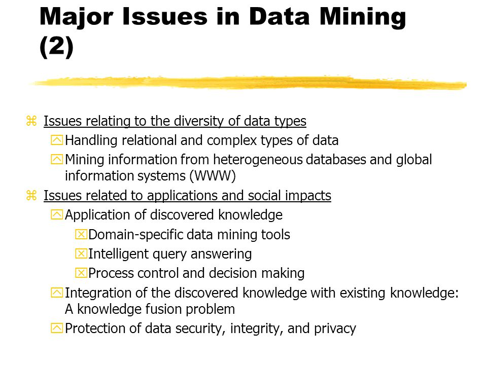 Data mining and personal privacy issues
