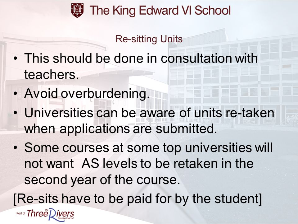 This should be done in consultation with teachers.