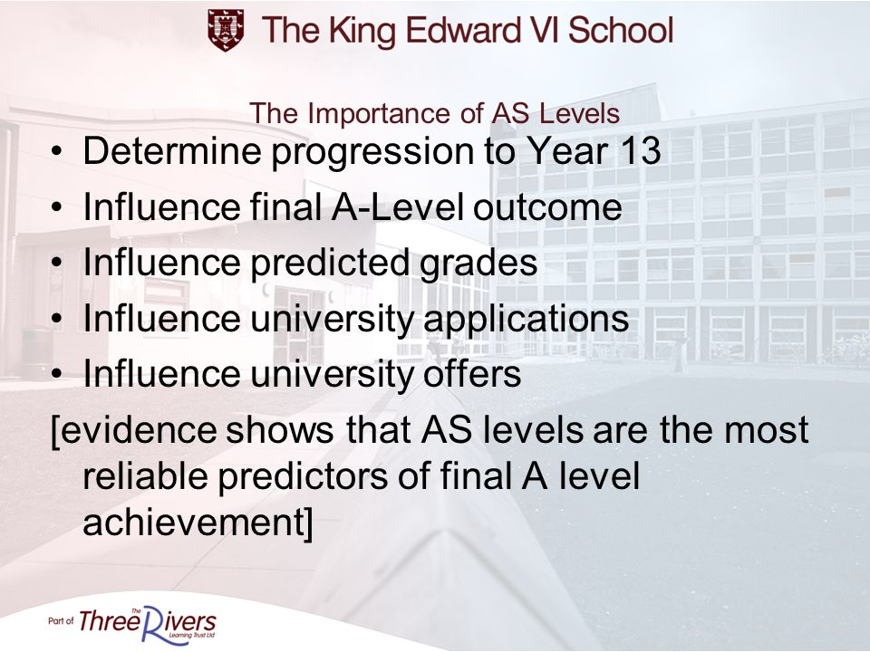 The Importance of AS Levels