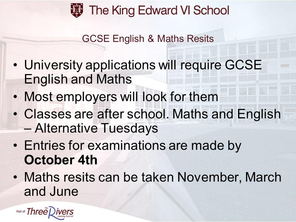 GCSE English & Maths Resits