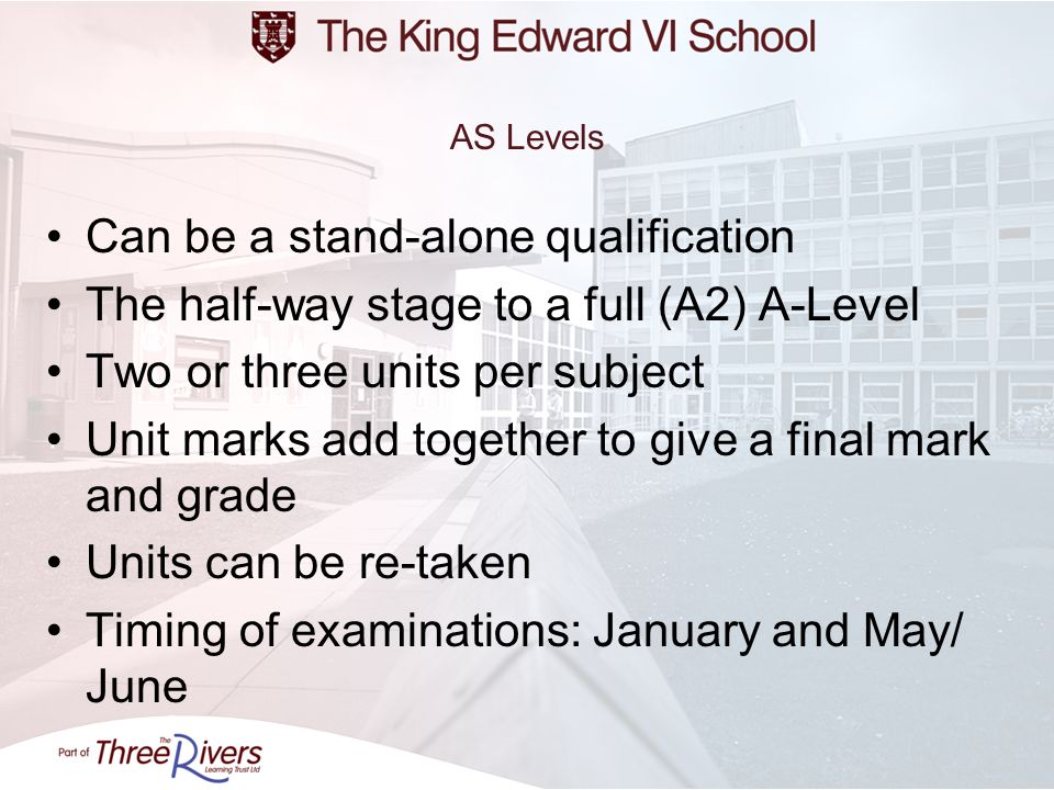 Can be a stand-alone qualification