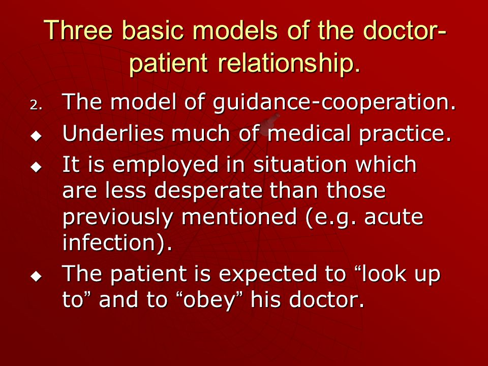 3 models of doctor patient relationship quotes