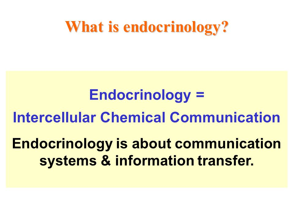 What is endocrinology Endocrinology =
