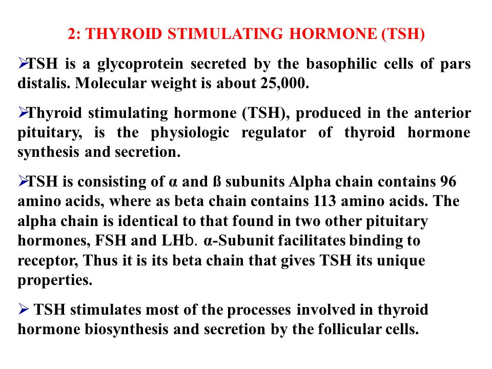 2: THYROID STIMULATING HORMONE (TSH)