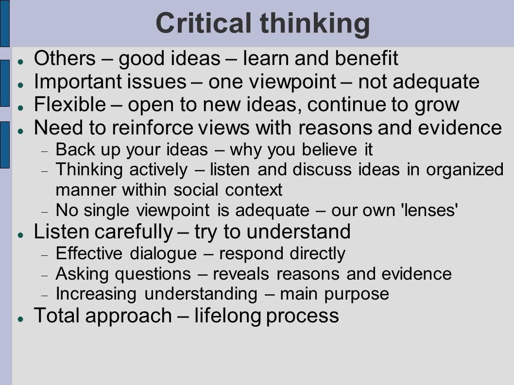 good critical thinking topics Learning to think critically requires that we learn to ask good questions here are  17 writing prompts for encouraging critical thinking, based on.