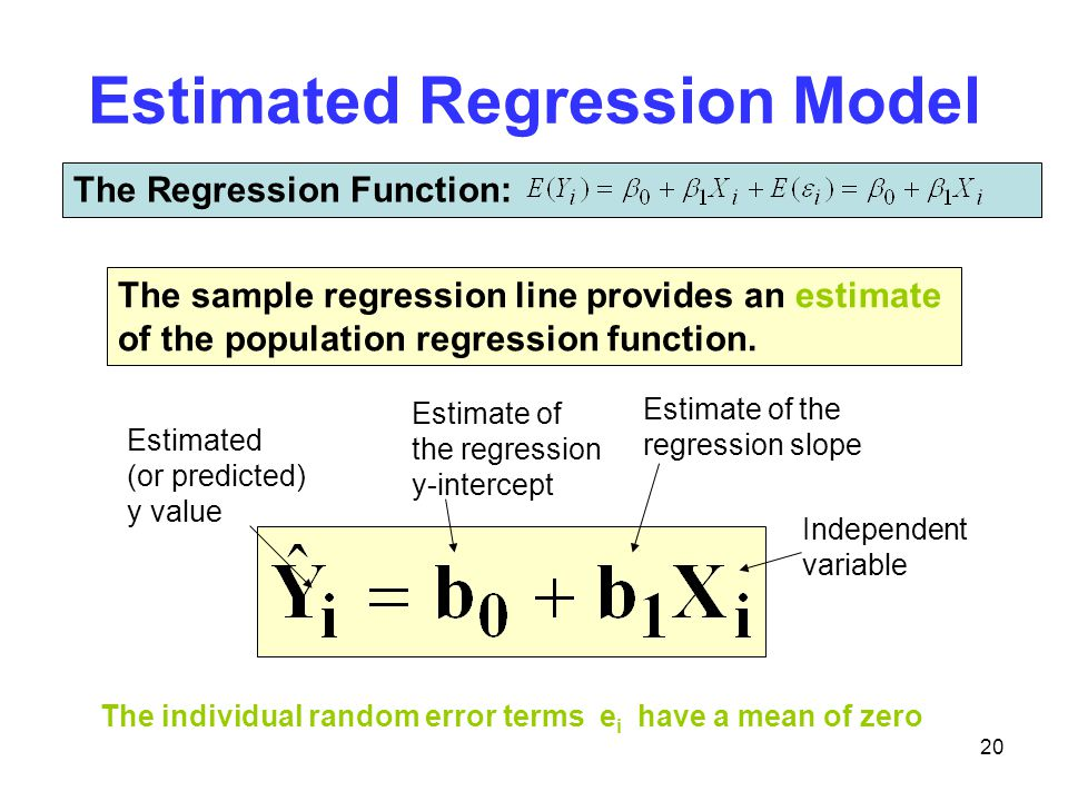 Estimated Regression Model
