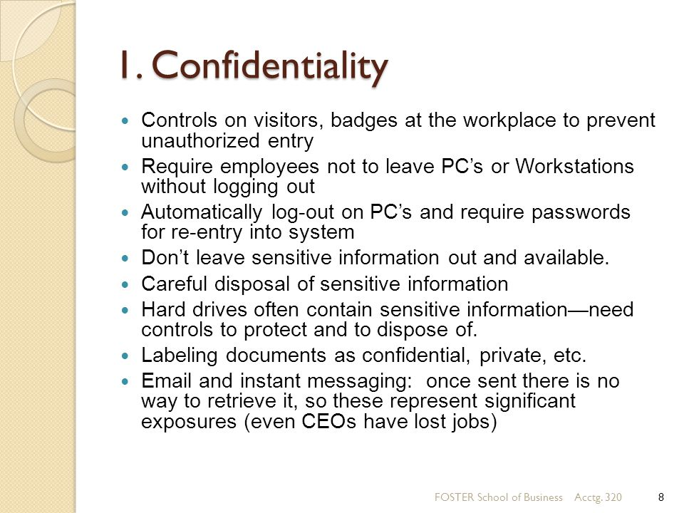 Information Systems Controls For System Reliability Part 2