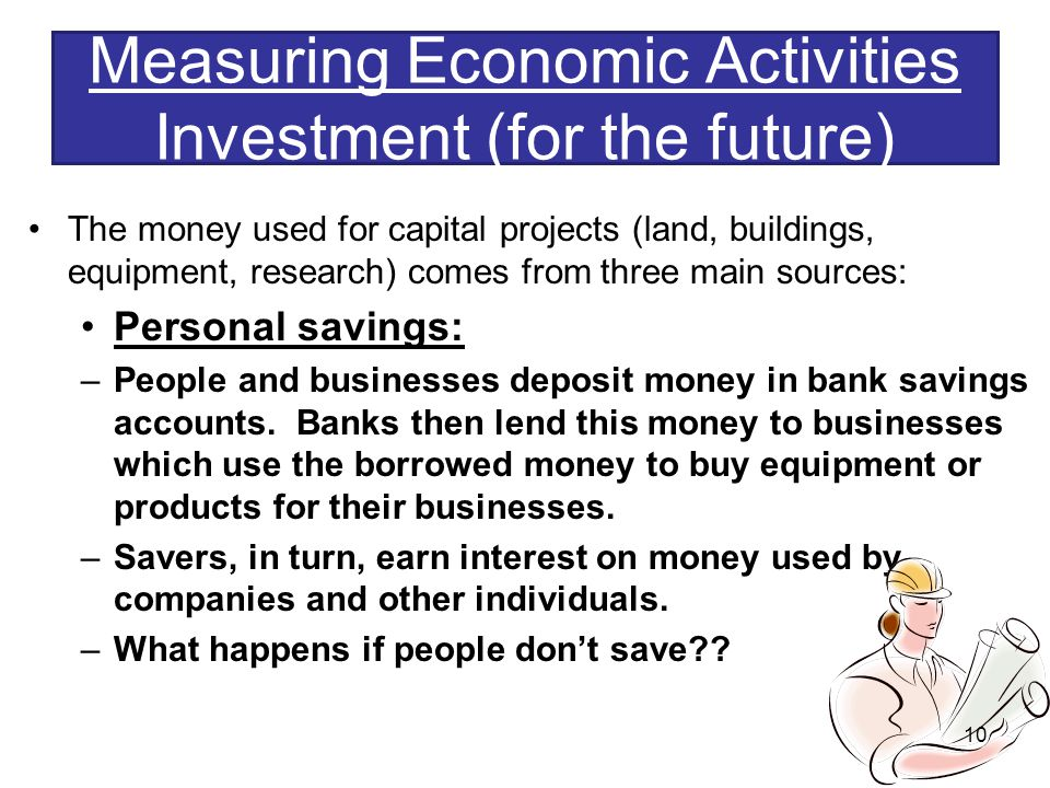 Measuring Economic Activities Investment (for the future)