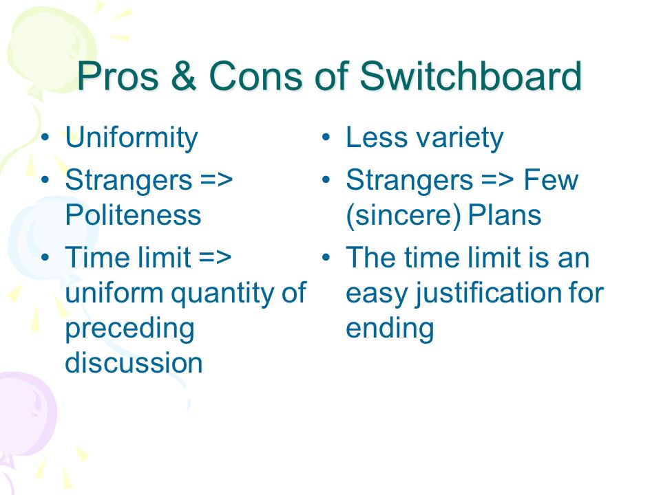 Pros & Cons of Switchboard