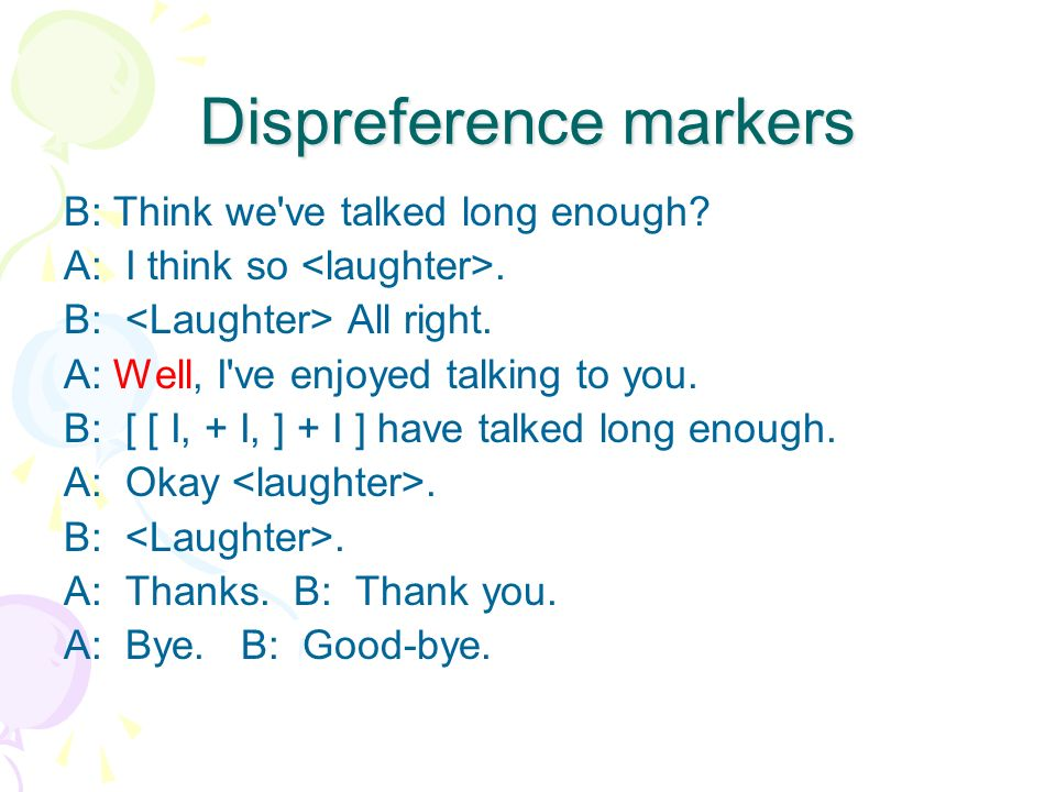 Dispreference markers