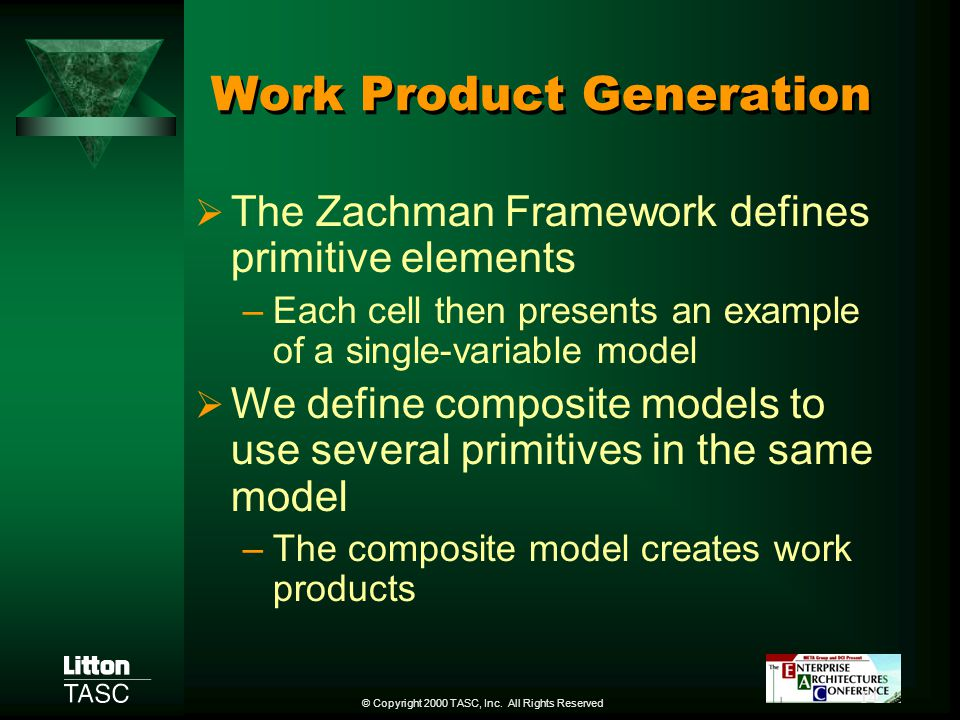 Work Product Generation
