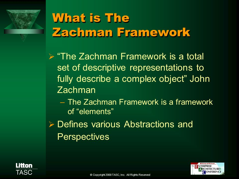 What is The Zachman Framework
