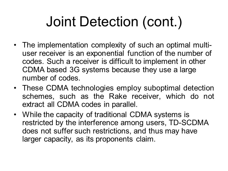 Joint Detection (cont.)