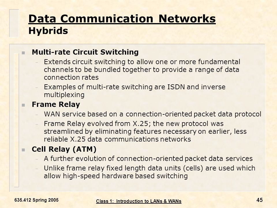 Data Communication Networks Hybrids