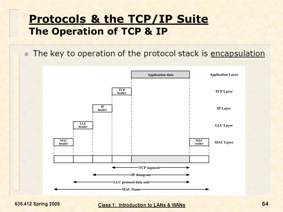 Protocols & the TCP/IP Suite The Operation of TCP & IP