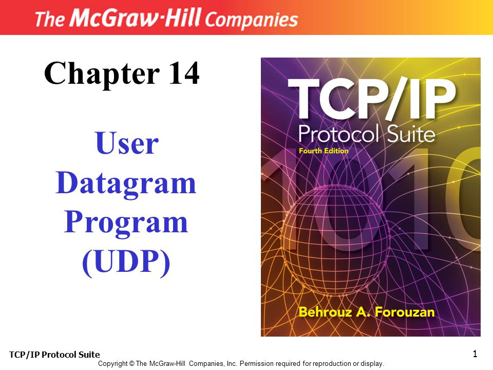 Chapter 14 User Datagram Program (UDP)