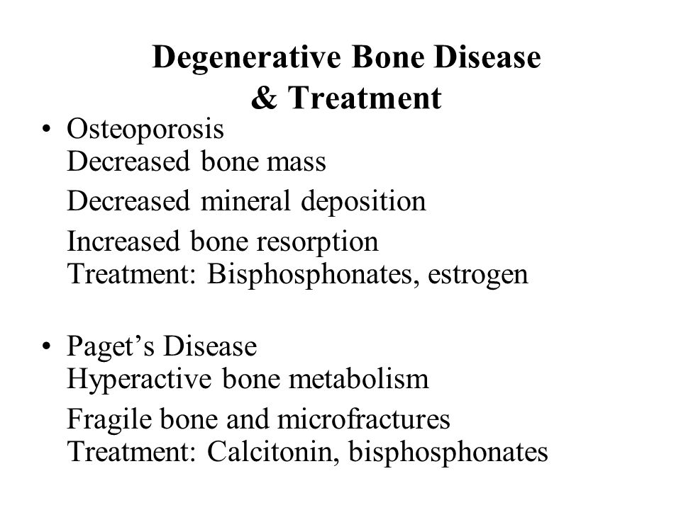 Degenerative diseases and their effects