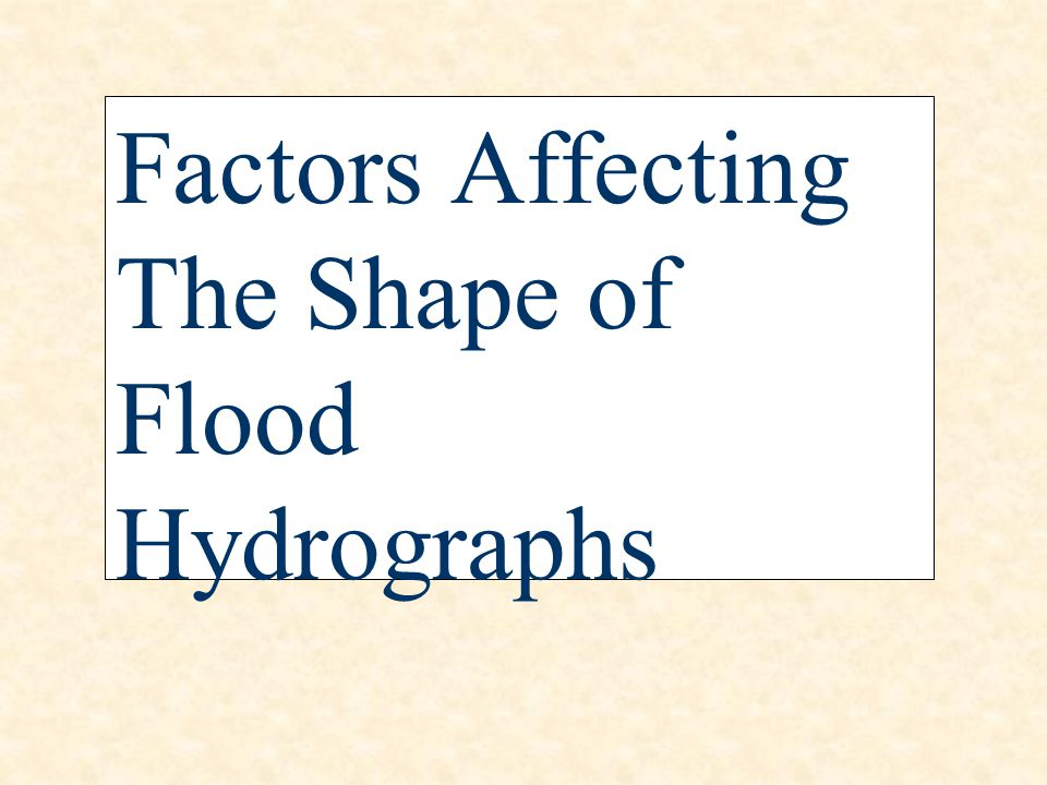 Factors Affecting The Shape of Flood Hydrographs